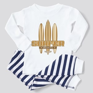 Long Board Surfer Toddler Pajamas