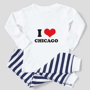 I Love (Heart) Chicago Toddler Pajamas