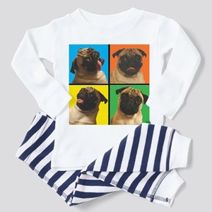 PUG SQUARES Toddler Pajamas