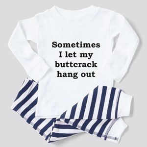 Buttcrack 2 Toddler Pajamas