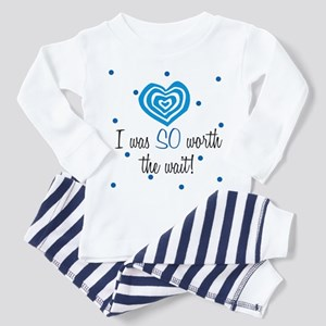 I was worth the Wait Blue Toddler Pajamas