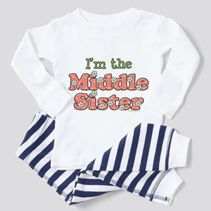 I'm the Middle Sister Toddler Pajamas