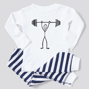 Stick figure weight lifter Toddler Pajamas