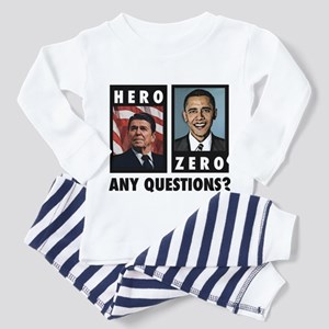 Reagan HERO, Obama ZERO. Any Toddler T-Shir