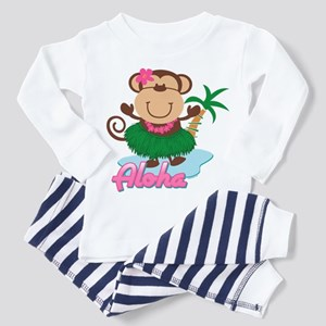 Aloha Monkey Toddler Pajamas