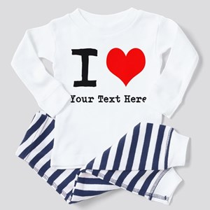 I Heart (personalized) Toddler Pajamas