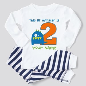 2nd Birthday Monster Toddler Pajamas