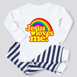 Jesus Loves Me Rainbow Pajamas