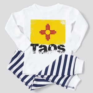 Taos Grunge Flag Toddler Pajamas