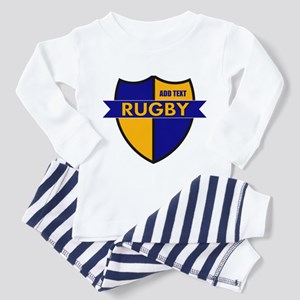 Rugby Shield Blue Gold Toddler Pajamas