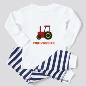 Personalised Red Tractor Pajamas