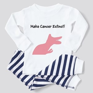 Make Cancer Extinct T-Rex Din Pajamas