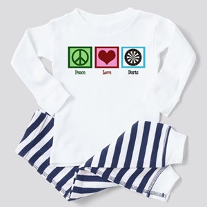Peace Love Darts Toddler Pajamas