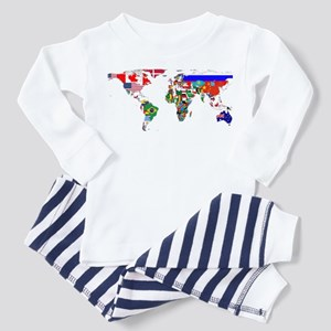 World Map With Flags Pajamas