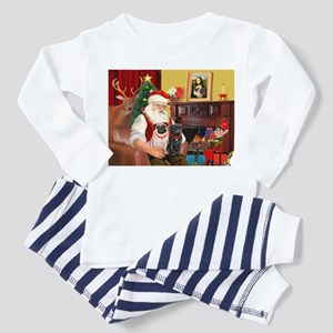 Santa's Two Pugs (P1) Toddler Pajamas