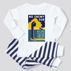 No Enemy Gun Toddler Pajamas