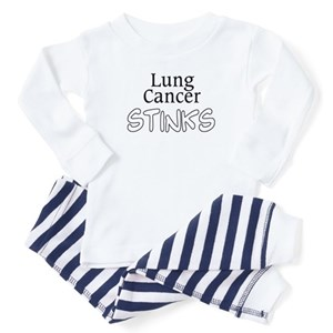 Lung Cancer Stinks Toddler Pajamas