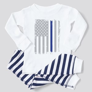 Thin Blue Line Flag Toddler Pajamas