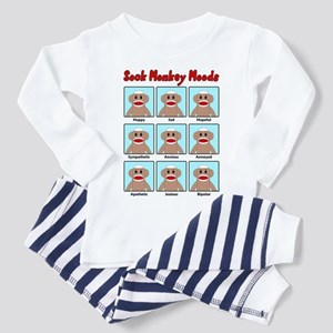 Sock Monkey Moods Toddler Pajamas
