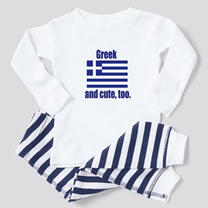 Cute Greek Toddler Pajamas