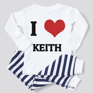 I Love Keith Toddler Pajamas