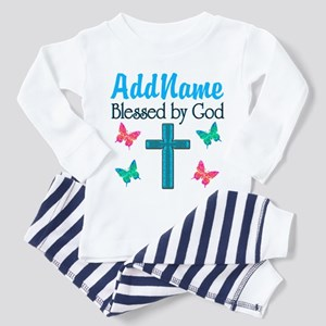 BLESSED BY GOD Toddler Pajamas