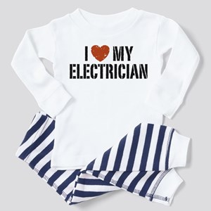 I Love My Electrician Toddler Pajamas