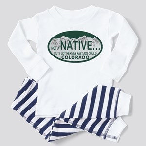 Not a Native Colo License Plate Toddler Pajamas