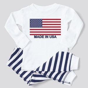 MADE IN USA (w/flag) Toddler Pajamas