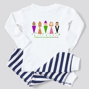 "Jewish Diversity ""Bloom"" Toddler Pajamas"