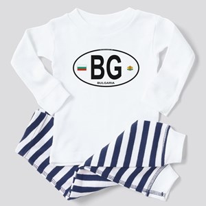 Bulgaria Euro Oval Toddler Pajamas