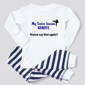 My Sister Knows Karate Toddler Pajamas