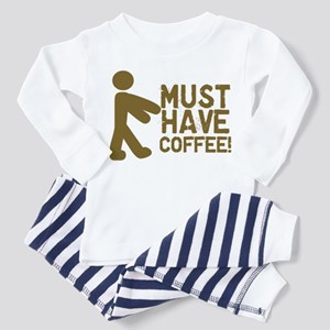 Must Have COFFEE! Zombie Toddler Pajamas