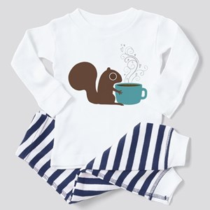 Coffee Squirrel Toddler Pajamas