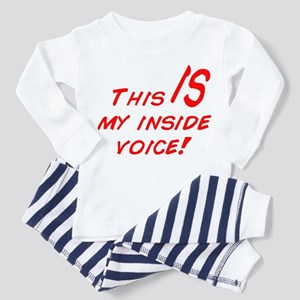 Inside Voice Toddler Pajamas