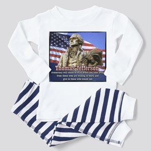 Thomas Jefferson quotes Toddler Pajamas