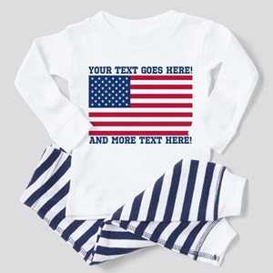 Personalized Patriotic American Flag Classic T-Shi