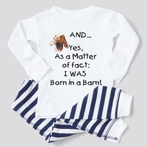 GOAT Born in Barn Toddler Pajamas