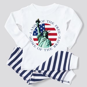 American flag Liberty Baby / Toddler Pajamas