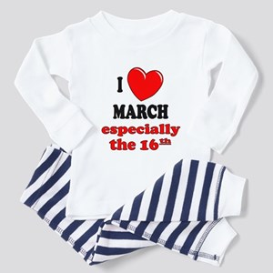 March 16th Toddler Pajamas