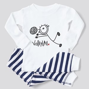 Stick Figure Volleyball Toddler Pajamas