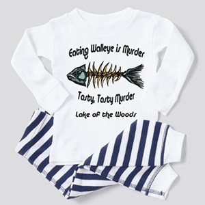 Eating Walleye is Murder Toddler Pajamas