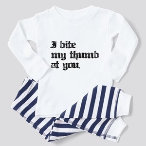 I bite My Thumb Toddler Pajamas