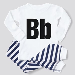 B Helvetica Alphabet Toddler Pajamas
