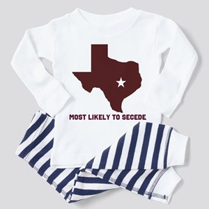 Most Likely To Secede (Maroon Toddler Pajamas