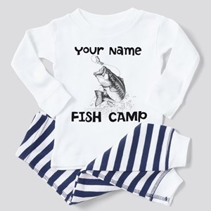 Personlize Fish Camp Toddler Pajamas