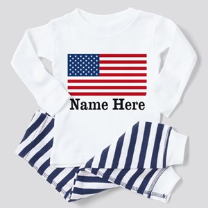 Personalized American Flag Toddler Pajamas