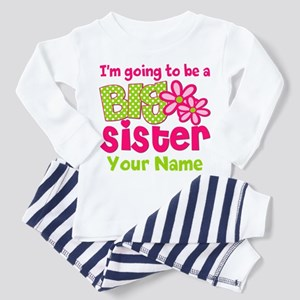Big Sister To Be Pink Green Pajamas