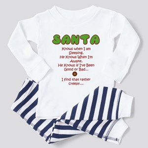 Creepy Santa Toddler Pajamas