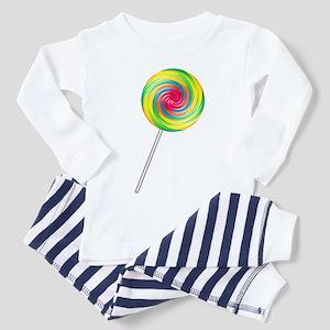 Swirly Lollipop Toddler Pajamas